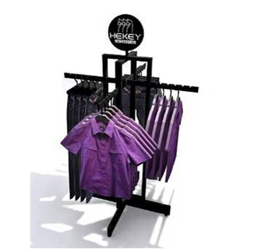 4 side display cloth rack